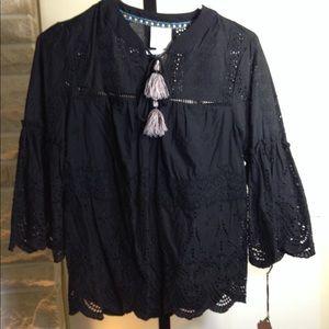 SOLD!Hippie lace shirt